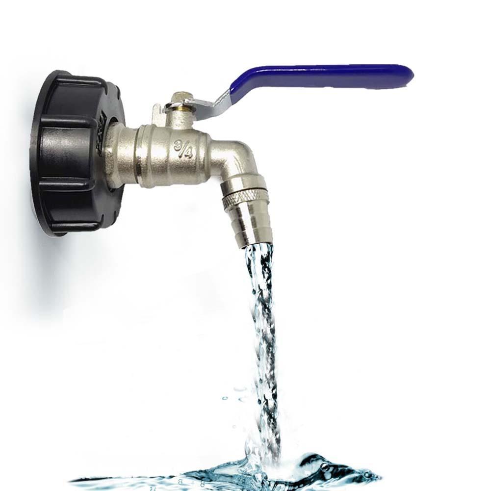 Adaptador para grifo de 3/4 pulgadas, adaptador de alambre IBC para tanque, Conector de reemplazo, válvula de ajuste para irrigación de jardín doméstico, Conector de agua