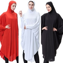 Las mujeres FashionWomens señora diario Casual musulmán sólido manga larga Vintage moda vestidos 4,12