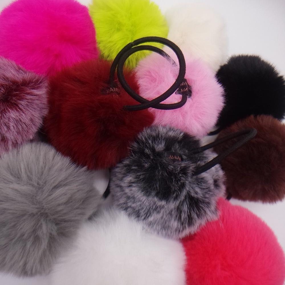 Для женщин и девочек 8 см мягкие пушистые волосы галстуки мяч веревка помпон держатель для волос кольцо головной убор кольцо для волос эласт...
