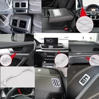 luxury abs wood chrome for audi q5 2018 car all kinds of interior accessories cover trim frame decoration car styling