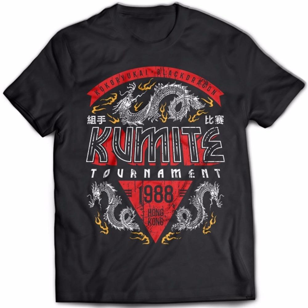 2019 Camiseta de manga corta de algodón para Hombre Kumite Tournament Bloodsport kung-fu Martial Artsert camiseta sudadera para venta