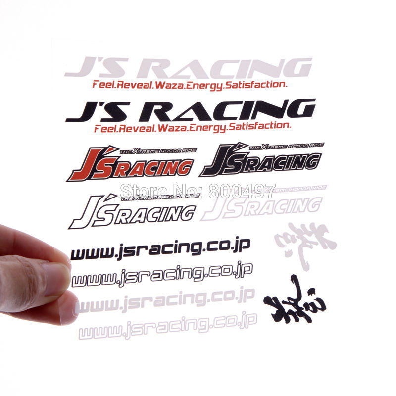New Design Creative Auto Decal Set Car Bumper Whole Body Decal Creative Vinyl Set for JS Racing