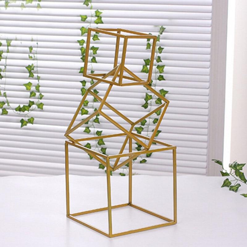 3 PCS זהב פרח אגרטל רצפת טור אגרטלים Stand מתכת כביש עופרת פרח מרכזי חתונה מתלה לאירוע מסיבת קישוט