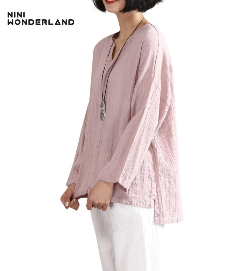 Женская футболка из хлопка NINI WONDERLAND, летняя Свободная Повседневная футболка большого размера