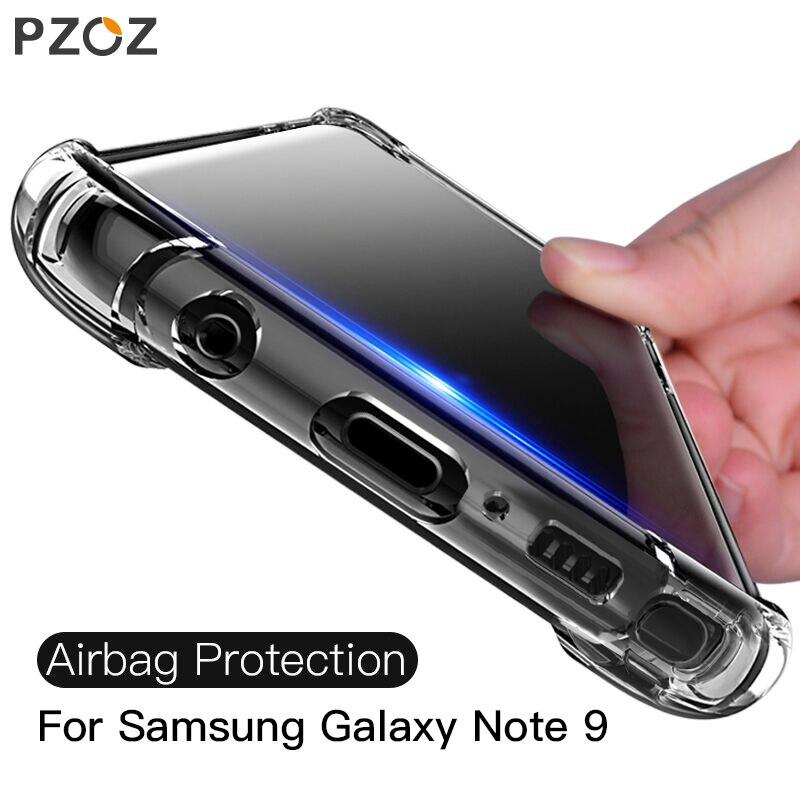 PZOZ a prueba de golpes funda para samsung galaxy note 9 funda de silicona suave de lujo transparente funda de protección del teléfono para samsung galaxy note 9