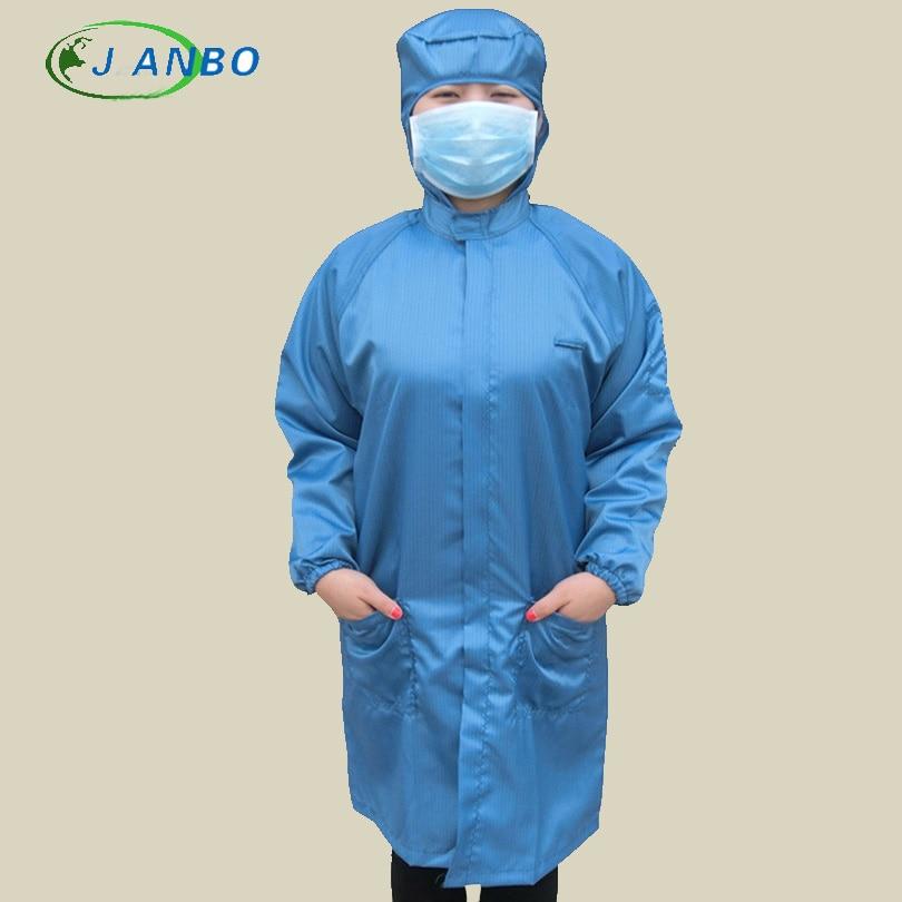 Антистатическая защитная рубашка костюм для уборки Защитный Комбинезон от