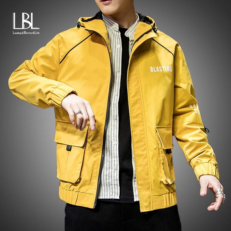 Moda masculina jaqueta amarela 2019 primavera outono casual sólida ma 1 zíper bombardeiro jaquetas casaco de beisebol dos homens fino piloto jaquetas