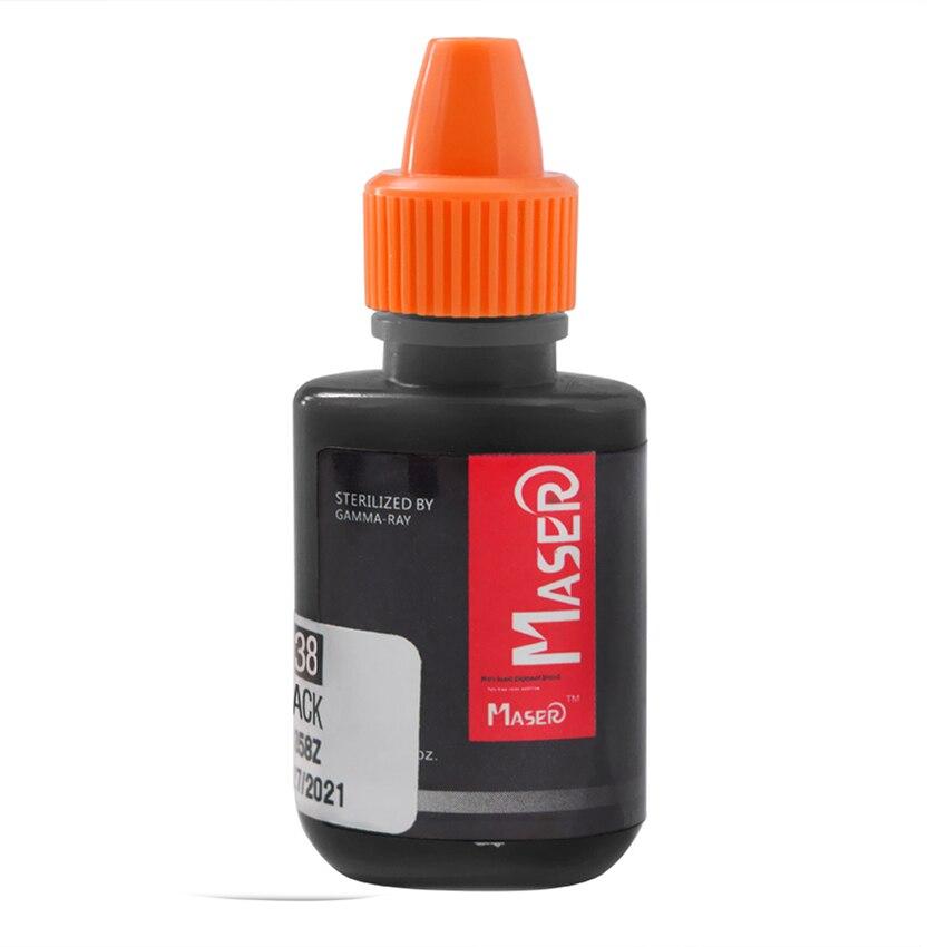 Tintas de pigmento de tatuaje negro 10ml 0,35 oz delineador de ojos permanente maquillaje tintas pigmentos herramienta de belleza suministro para máquina de tatuaje pluma tazas de tinta