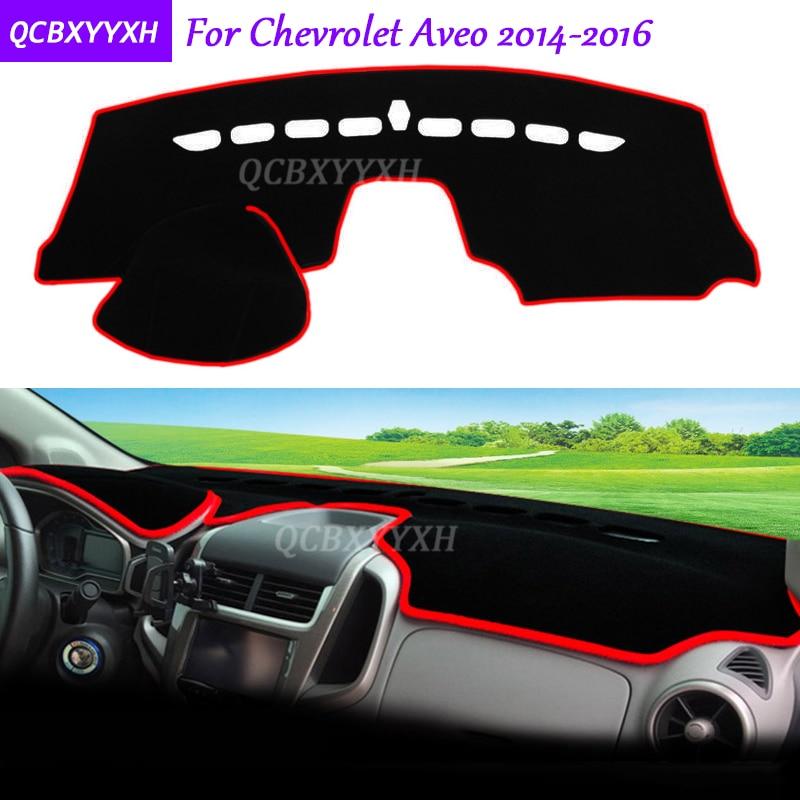 Para Chevrolet Aveo 2014-2016, alfombrilla protectora para salpicadero, almohadilla Interior para fototerapia, cojín para sombra, accesorios para coche