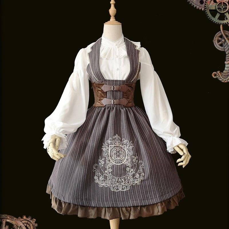 El círculo mágico ~ Steampunk Lolita vestido JSK bordado corsé vestido sin mangas por la Infanta