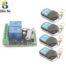 Récepteur et émetteur de commutation rf, télécommande 433Mhz DC12V 10A 2CH
