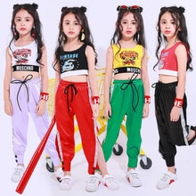 Kids Hip Hop Performance Clothing Clothes Boy Jazz Dance Costumes Suit Girls Crop Tops Pants Ballroo