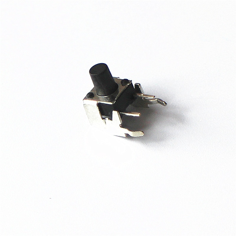 10 unids/lote 6*6*8mm interruptor de botón de luz interruptor lateral pies de Metal soporte Terminal pequeño interruptor 6x6x8 Switch