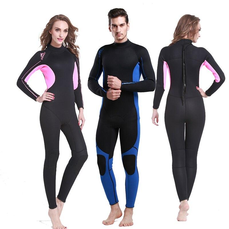 Gran oferta de 3mm de los hombres traje de buceo natación de invierno surf windsurf buceo mono completo Hombre Bañadores
