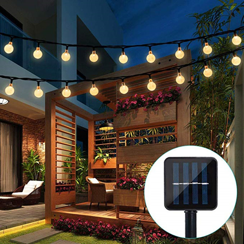 ECLH Solar Lamp 10M 50Led Crystal Ball Globe luz Waterproof Warm White Fairy Light Garden Decoration