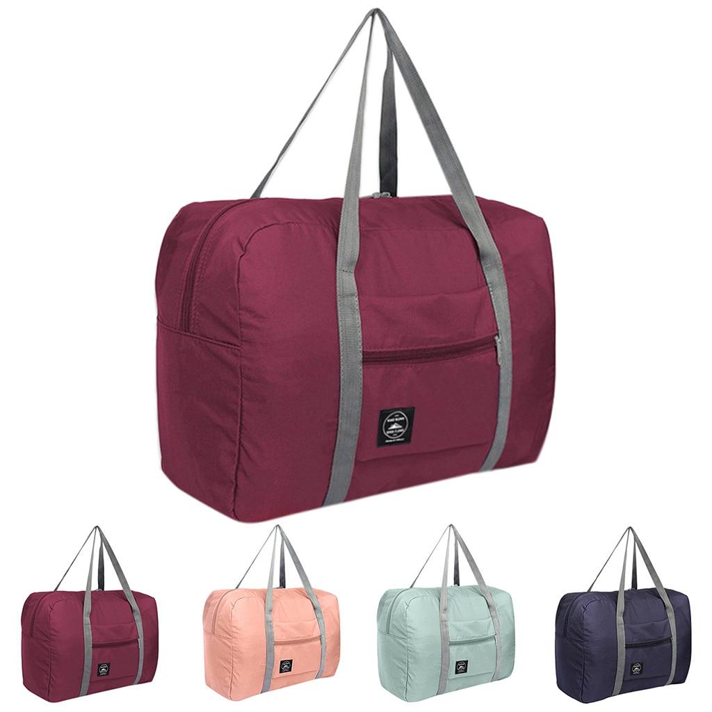 Reise Klapp Taschen Wasserdichte Reisetasche Große Kapazität Taschen Männer Frauen Nylon Folding Tasche Unisex Gepäck Reise Handtaschen # T10