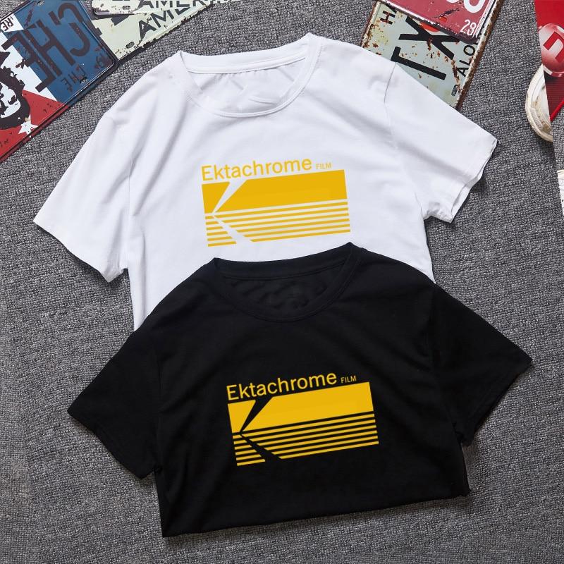 Винтажная футболка с коротким рукавом для подростков Kodak Ektachrome, комфортная футболка для подростков, опт
