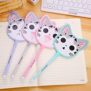 16pcs/lot Cartoon Kawaii Cat Fan design gel pen/signing pen/funny students' gift/kids' toy/office school supplies/Wholesale