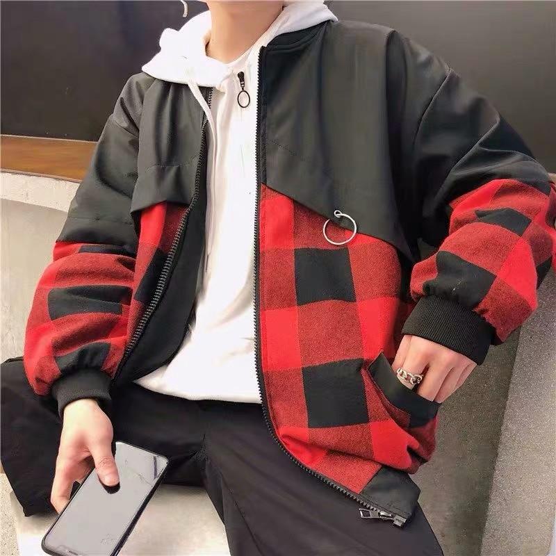 hiking jacket Men's Sweatshirts Hooded Fall And Winter warm zipper Clothes Baseball Uniform instagram Style Movement Velvet Thi