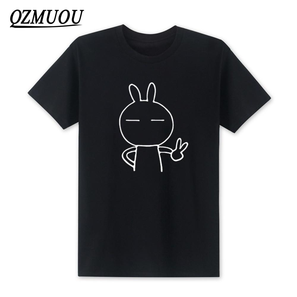 2020 nuevos hombres de dibujos animados lindo conejo Keith sí camiseta para...
