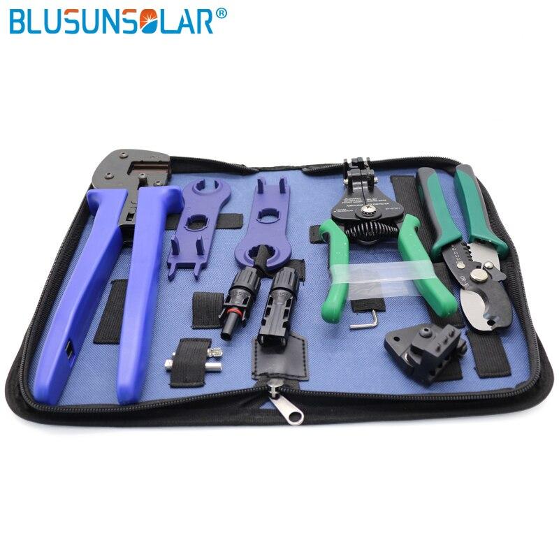 Blusunsola متعددة الوظائف الشمسية أداة مجموعة مع كابل أداة تقشير سلك القاطع موصل ومفك البراغي