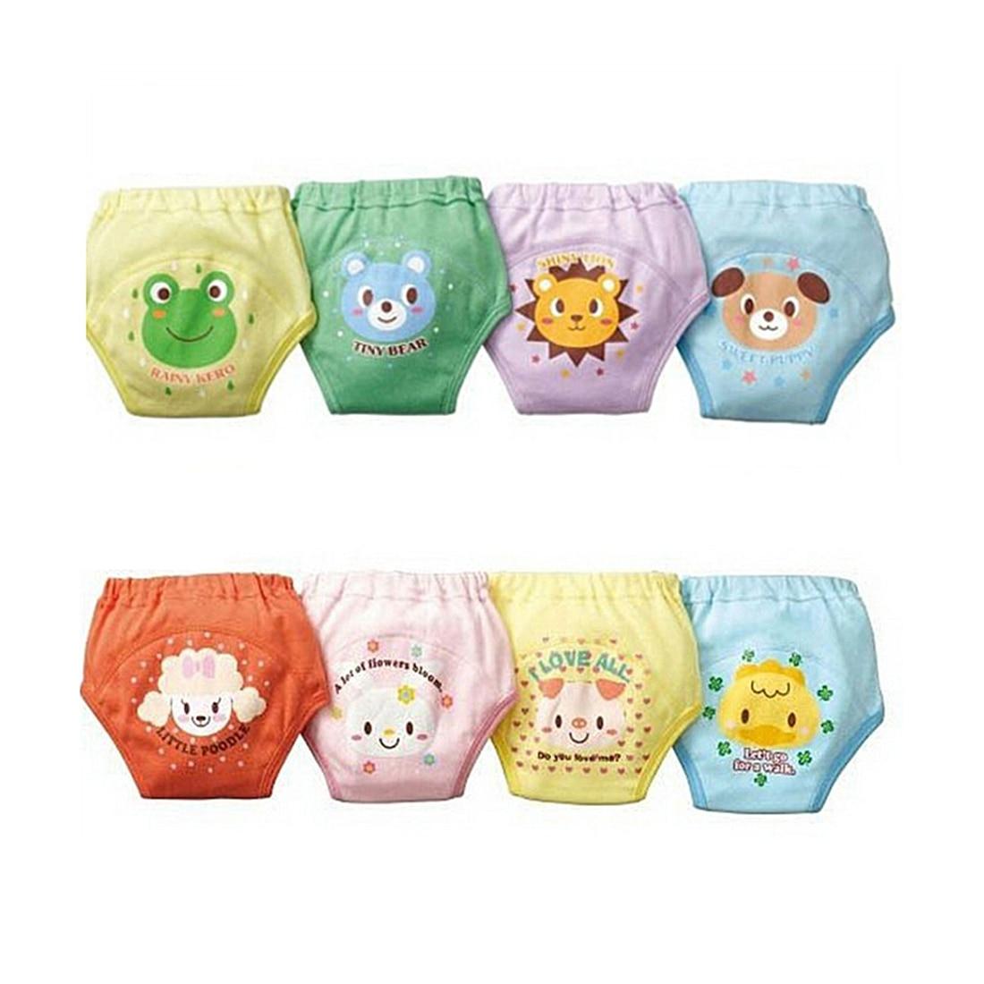 4 X Bambino Del Bambino Delle Ragazze Dei Ragazzi Carino 4 Strati Impermeabili Potty Training Pants riutilizzabile 4 Formato di Invio casuale