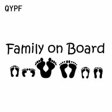 QYPF 15.2CM * 5.4CM famille à bord vinyle autocollant voiture autocollant noir argent C14-0125