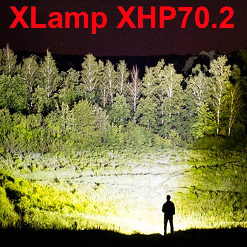 8000 lumens xhp70.2 plus puissant lampe de poche LED usb 18650 26650 batterie rechargeable xhp70 xhp50 chasse torche LED lampe à main
