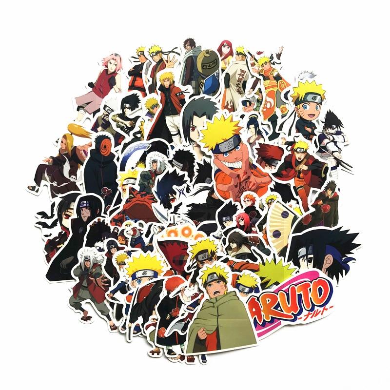 2020 Япония Аниме 63 шт./лот Наруто Саске мультфильм для сноуборда ноутбука багаж холодильник авто-Стайлинг виниловая наклейка наклейки