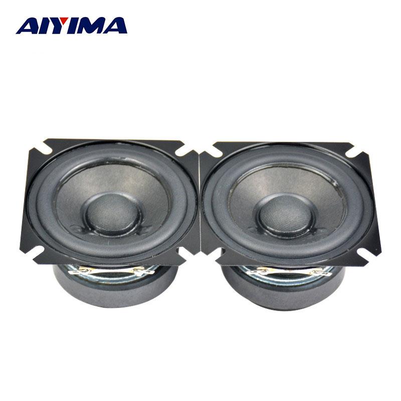AIYIMA 2Pcs 2,5 Zoll Audio tragbare Lautsprecher 4Ohm 15W Vollständige Palette Lautsprecher Top HIFI Digitale Lautsprecher Rohr Amp gute Audio Sound