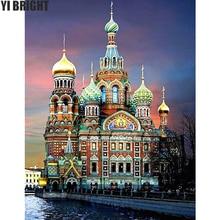 5D DIY Diamond Embroidery St. Petersburg Church Diamond Painting Cross Stitch Full Square Rhinestone Mosaic Home Decor