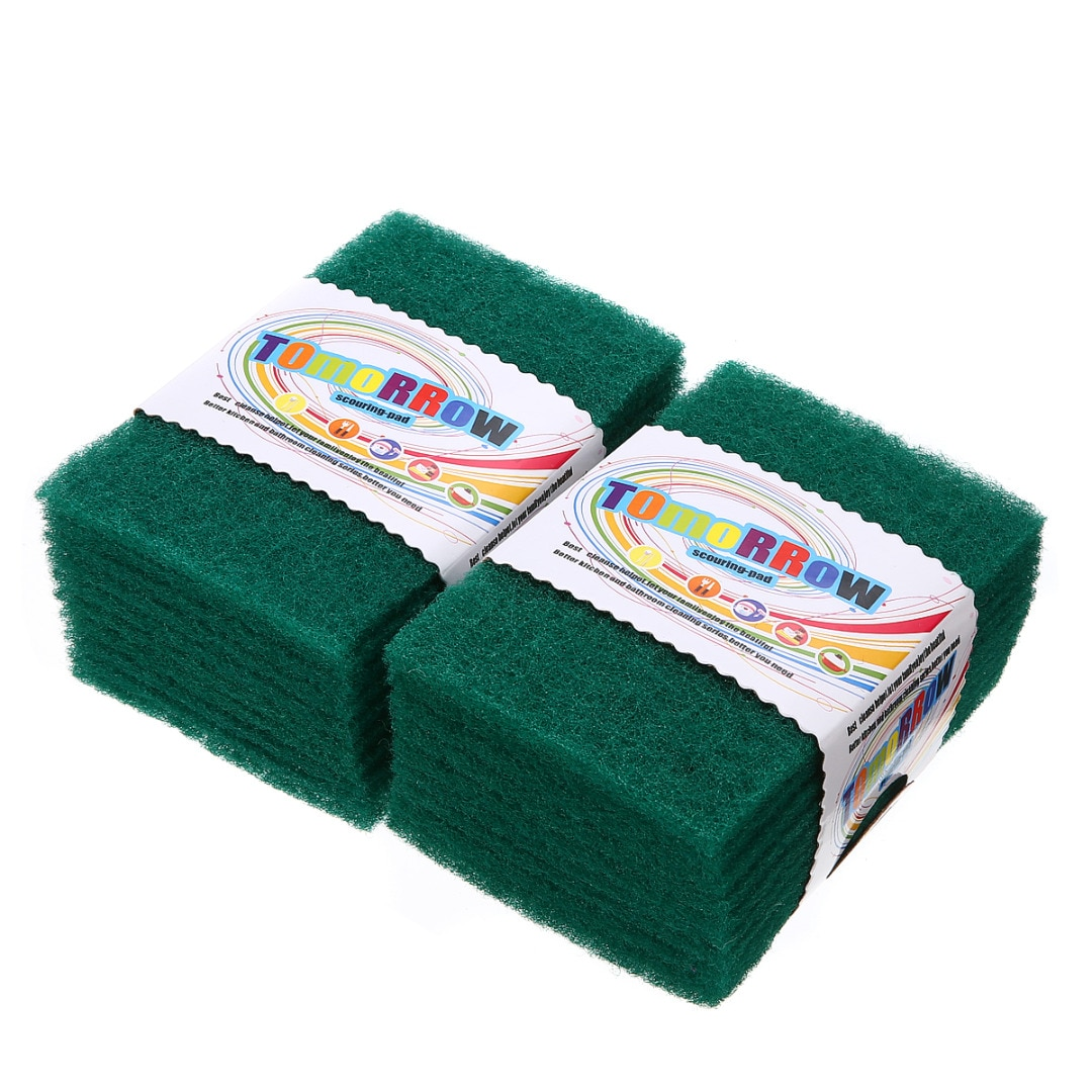 20 шт. зеленые губки для мытья посуды, моющие салфетки для мытья посуды