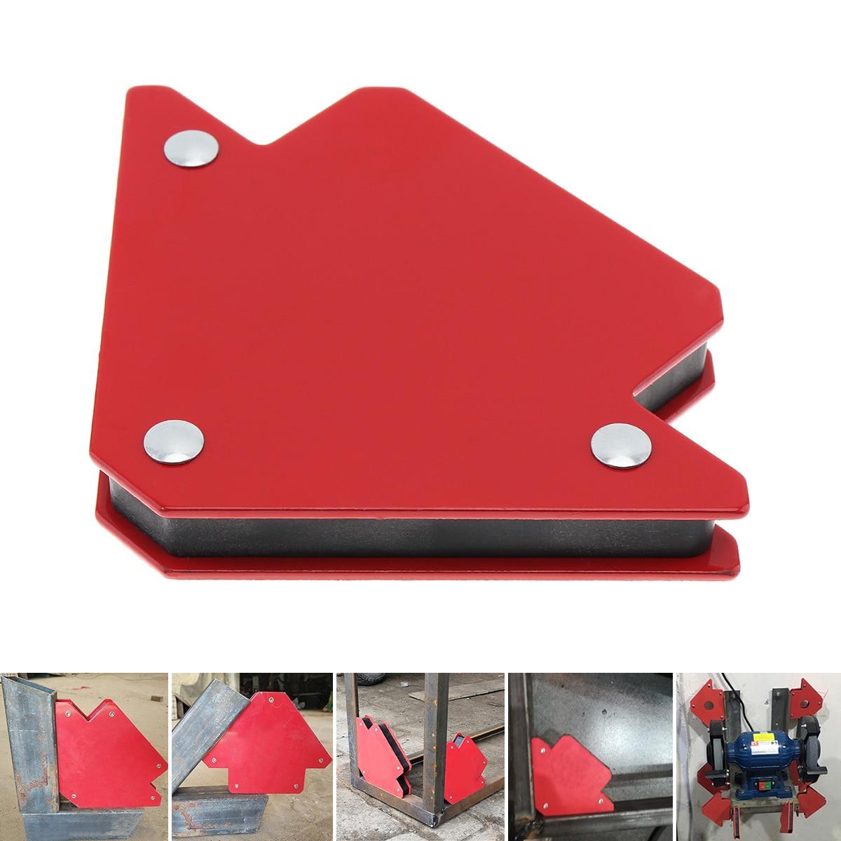 1PCS 25LBS Ferrite Magnet Welding Magnetic Holder Strong Magnet 3 Angle Arrow Positioner Power Soldering Locator Tool