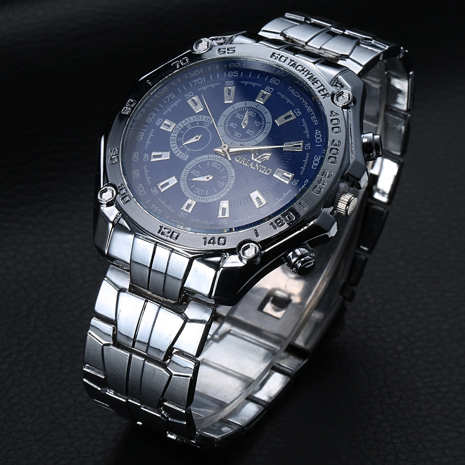 Men Watches Luxury Top Brand Simple Geneva Stainless Steel Quartz Watch Man Sport Wrist Military Waterproof Clock
