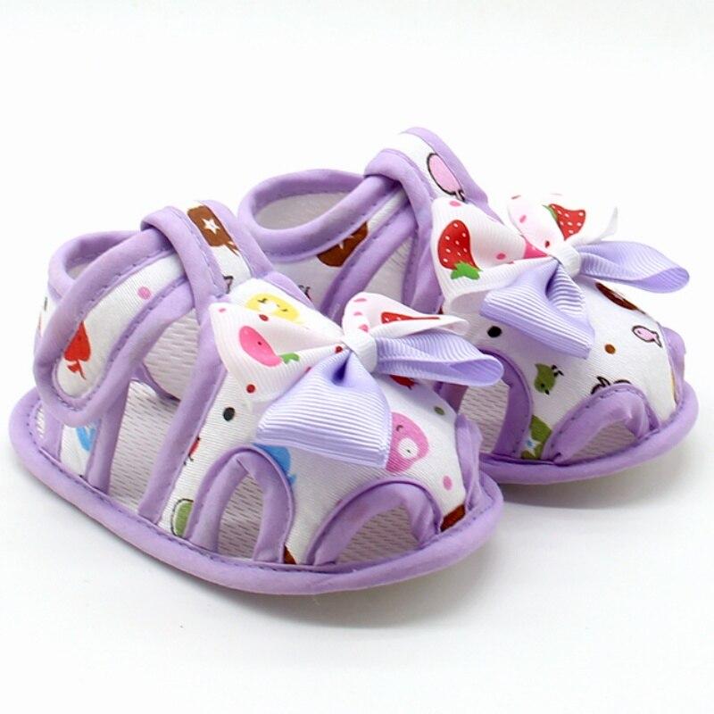 Zapatos de bebé, sandalias con estampado de flores para niñas, Otoño, Princesa, bebé, niños pequeños, suela suave, zapatos de tela