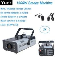 High Quality Remote Control LED 1500W Smoke Machine /RGB Color LED Fog Machine/Professional LED Fogger Stage 1500W Smoke Machine