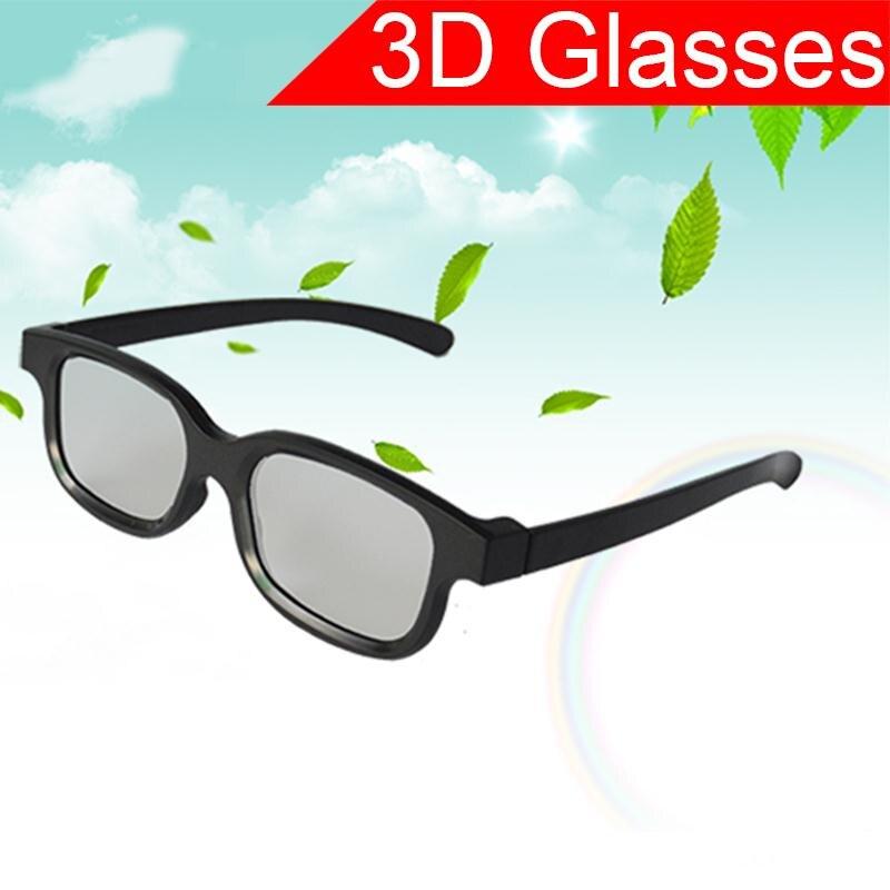 Nuevo círculo negro redondo polarizado 3D gafas película LCD Video juego teatro TV teatro película Circular