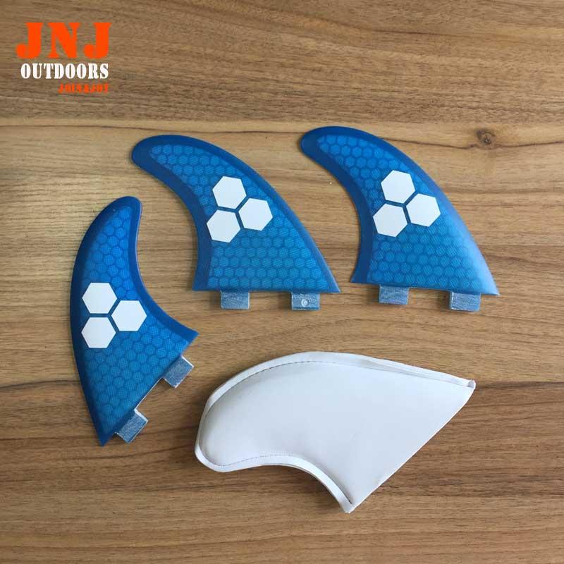 8 set/lotto blu FCS M G5 di surf pinne/pinne tavola da surf fcs/fibra di vetro surf pinne/pinne future con migliore qualità