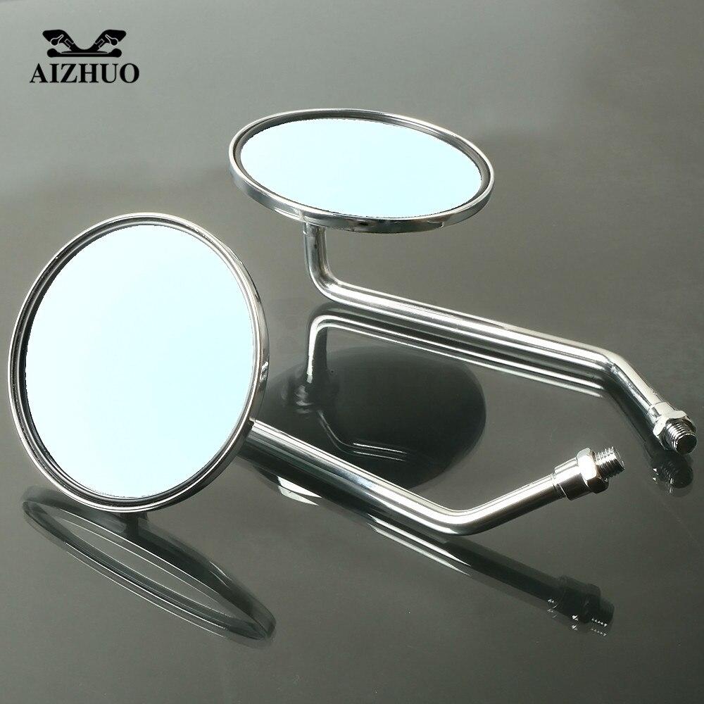 Аксессуары для мотоциклов зеркало заднего вида круглое зеркало для SUZUKI gsr 750 gs500 intruder 800 gsf 600 gsx-s750 bandit 1200