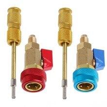 Climatisation R134A noyau de soupape décapant rapide Installer outil haute basse pression Installation de climatisation interne automatique
