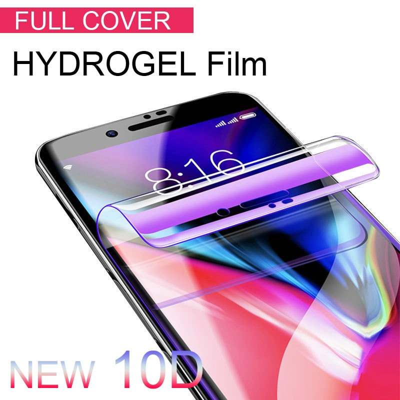 10D Soft Full Cover Screen Protector For iPhone 6 6S 7 8 Plus X 10 Hydrogel Film For iPhone 8 7 6 Pl