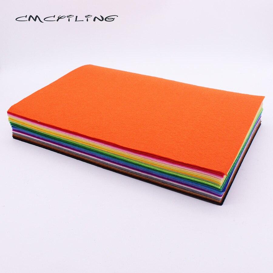 Cmcyying-feuille de feutre 20cm * 30cm   Tissu en Polyester de 1 mm dépaisseur pour le bricolage, couture poupées artisanat, 40 pièces/lot