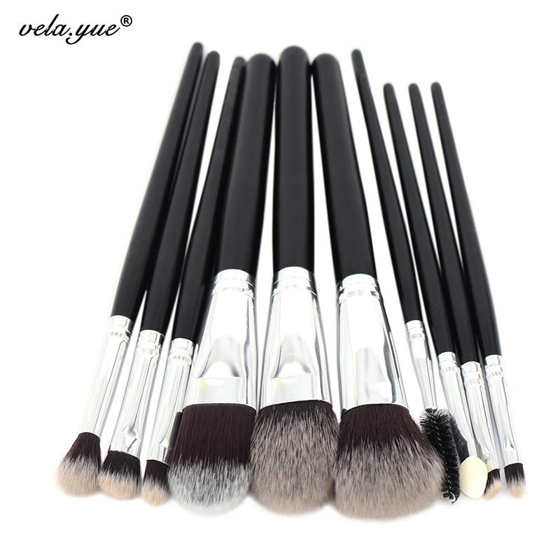 10pcs Professional Makeup Brushes Set Powder Foundation Blusher Eye Shadow Liner Brow Lash Makeup Tools Kit for Beginners