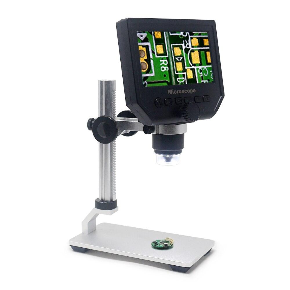 600X8 LED Digital Mikroskop Microscopio Lupe Elektronische Kamera Aufnahme Video Nehmen Fotos Wiedergabe Modi