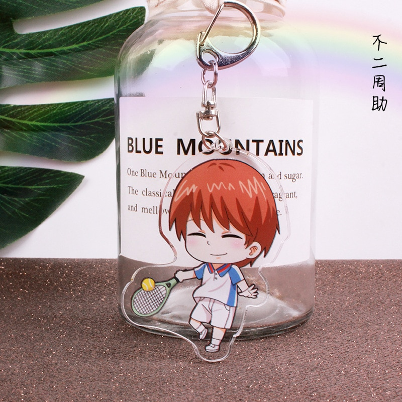 Anime Prince of tennis Acrylic keychains Ryoma cute funny keyrings bag pendant jewelry kids toy porte clefs
