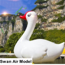 4 m Altura Oxford lindo dibujo Cisne globo gigante inflable Cisne modelo Flotador para eventos al aire libre deportes acuáticos carnaval Decoración