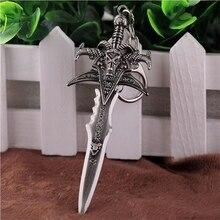 Брелок для косплея, брелок в виде меча, «Мир Warcraft», «Wow LOL», аксессуар, держатель для оружия, брелок для автомобиля, брелок для рукоделия