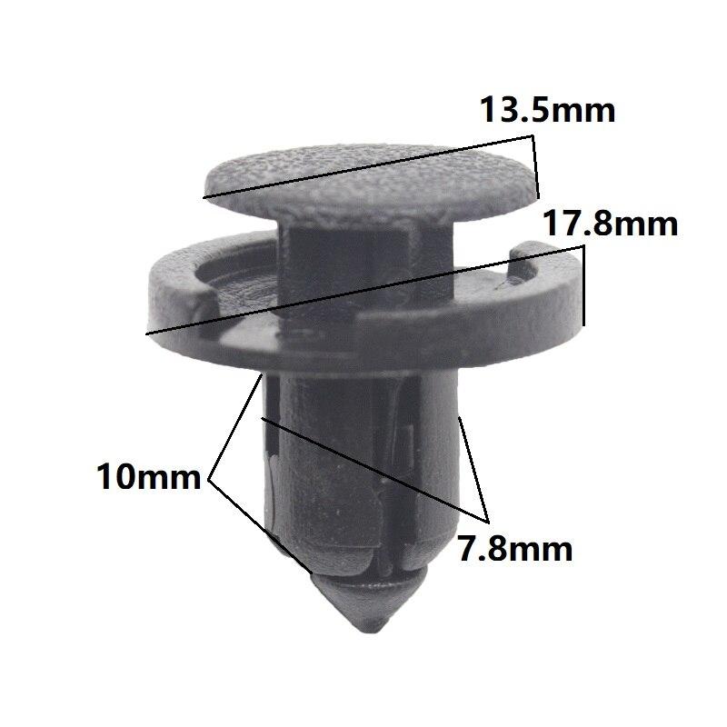 KE LI MI parachoques automático Splash cubierta del escudo de moldeo por tipo de retención Clips para Honda