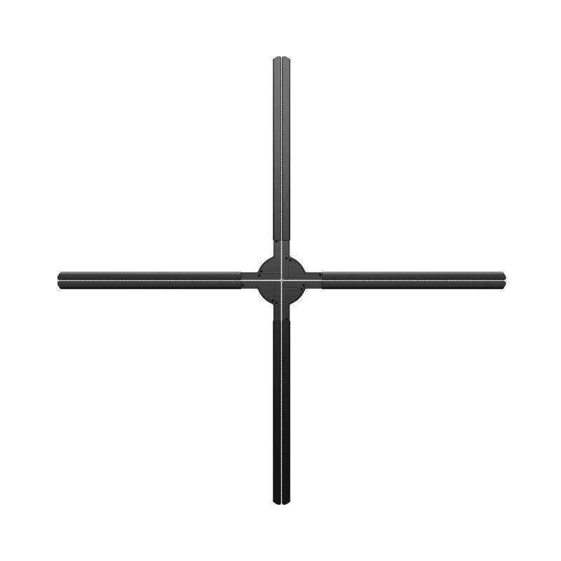 Dseelab, 65cm, wi-fi, 3D, Hologran, ventilador LED, pantalla publicitaria, 4 ejes, alta resolución, caja de luz, gobo, proyector, holograma