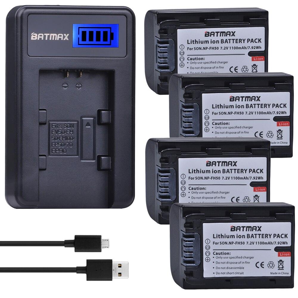 2 шт. NP-FH50 NP-FH30 FH40 NP FH50 батарея + ЖК-зарядное устройство USB для Sony HX1 HX100 A230 A290 A330 A390 CX100E CX500E CX520E HC9E